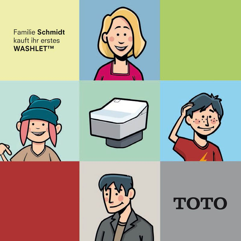 TOTO WASHLET Comic